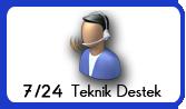 7-24 online teknik destek